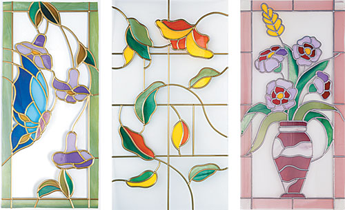 Creating of stained glass window «DecraLed»